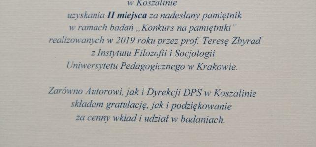 """Konkurs na pamiętniki"""