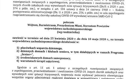 Polecenie Wojewody 24.04.2020