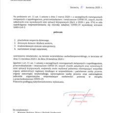 Polecenie Wojewody 10.04.2020