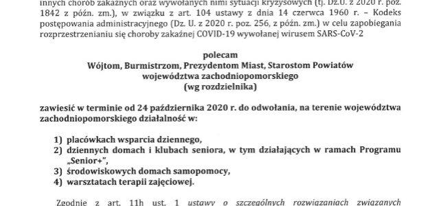 Decyzja Wojewody Zachodniopomorskiego z 23.10.2020