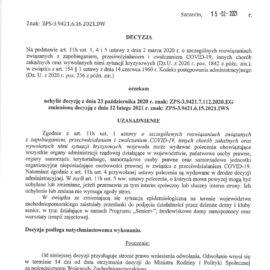 Decyzja Wojewody Zachodniopomorskiego z 15.02.2021r